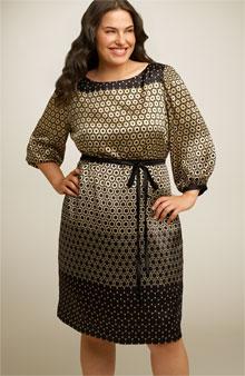 Maggy London Silk Charmeuse Shift Dress
