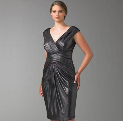 Tadashi Metallic Jersey Dress