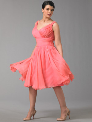 Silk Chiffon Party Dress