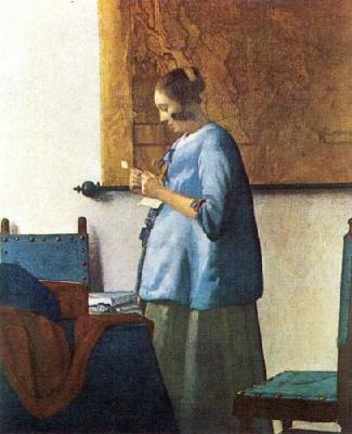 woman in blue