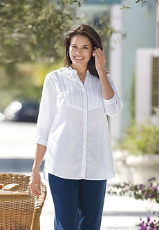 Woman Within Cotton Big Shirt