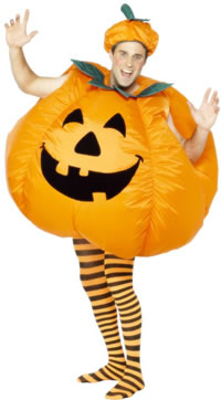 that's right, a pumpkin costume.