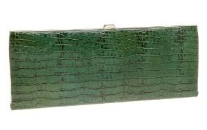 Green Croc Clutch