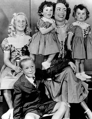 Joan Crawford and family.