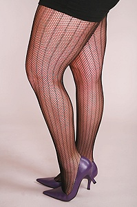 Striped fishnets at Torrid