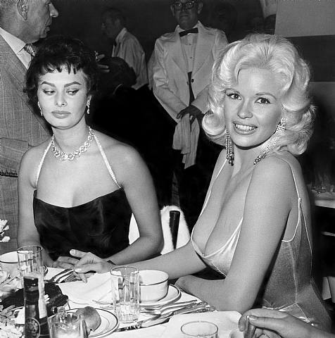 Sophia Loren and Jayne Mansfield (hint: you want to be La Loren)