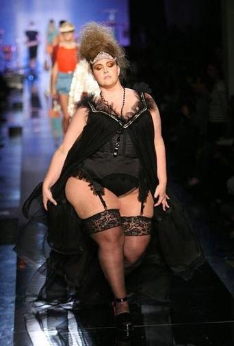 Gaultier Show Fat Model