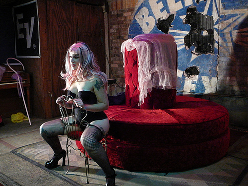 Performance Artist and friend, Miss Ruby Lamb. Photo by Nathan Black