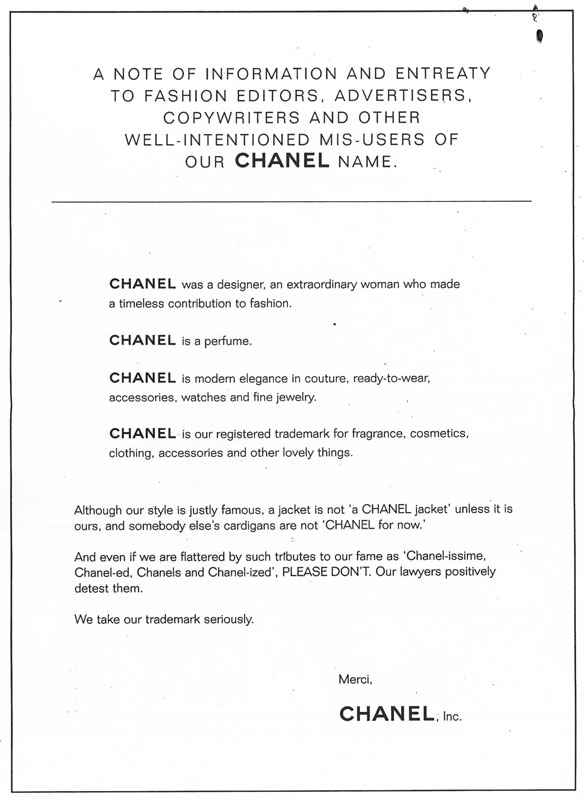Chanel C and D