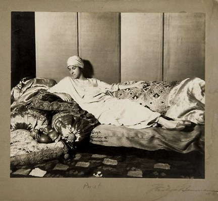 Denise Poiret lounging