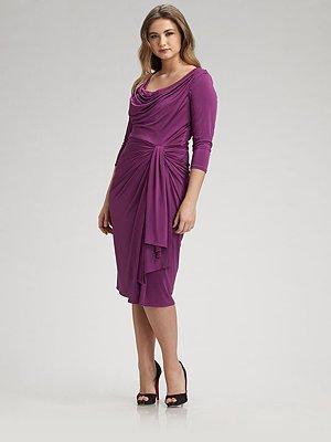 Tadashi jersey cocktail dress