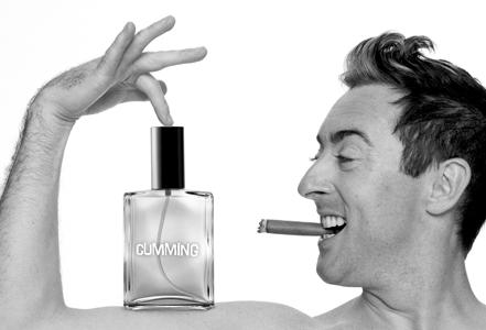 For his actually really brilliant fragrance, Cumming
