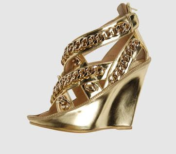 Gold Givenchy Sandals