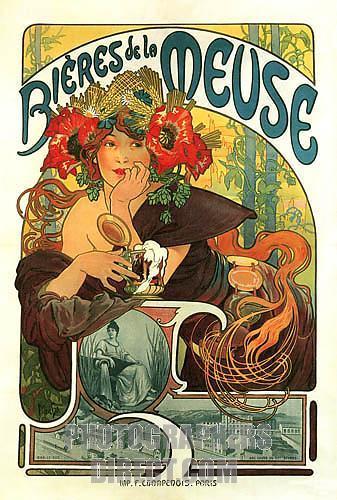 Alphonse Mucha's Biers de le Muese