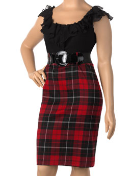 Plaid skirted dress