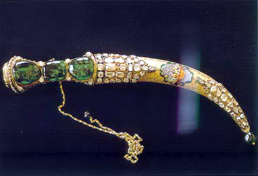 The Topkapi emerald dagger
