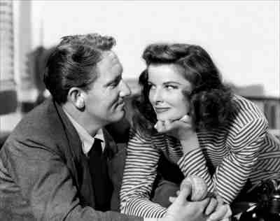 Spencer Tracy and Katharine Hepburn in Woman of the Year 