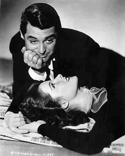 Cary Grant and Kate Hepburn