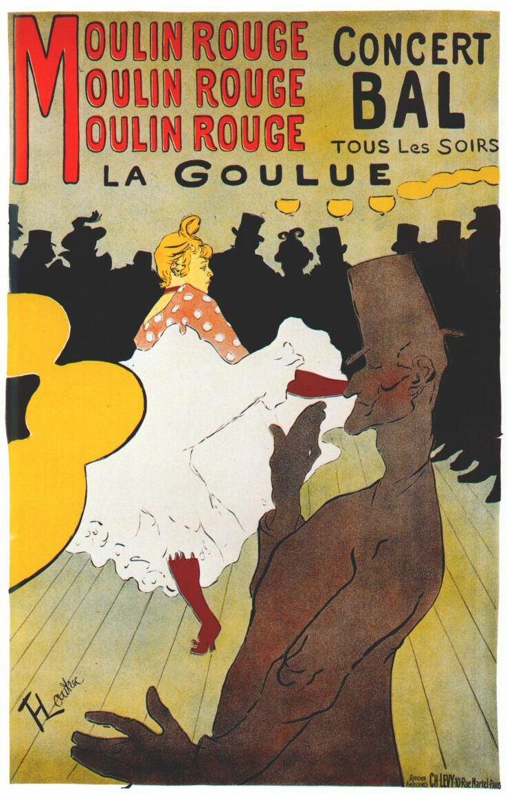 La Goulue Poster, Moulin Rouge, 1891
