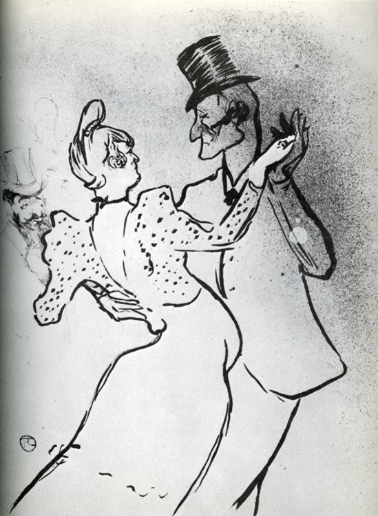 La Goulue et Valentin, 1895
