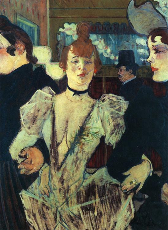La Goulue entrant au Moulin Rouge, Henri Toulouse-Lautrec, 1892