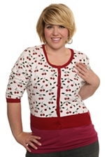 Torrid Cherry cropped cardigan