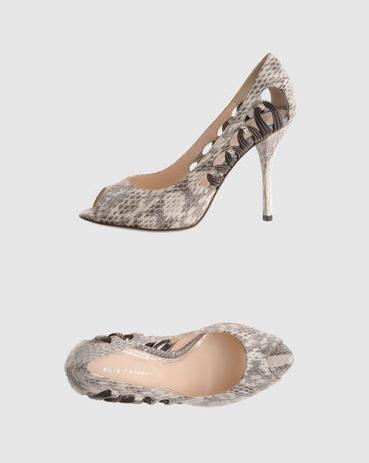 Tahari snake skin heels