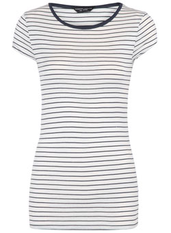 navy striped tee