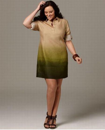 ombre linen dress