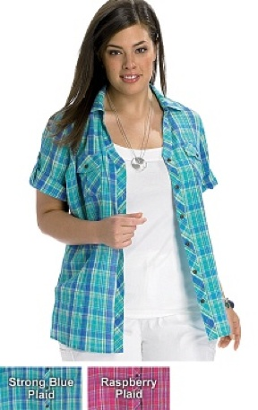 JMS Plaid Camp Shirt