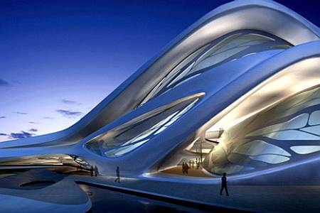 Abu Dhabi performing arts center by Zaha Hadid