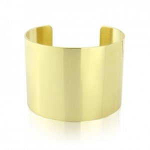 18ct Gold on Solid Silver Cuff